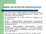 sobre los actos pre contractuales