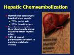 hepatic chemoembolization