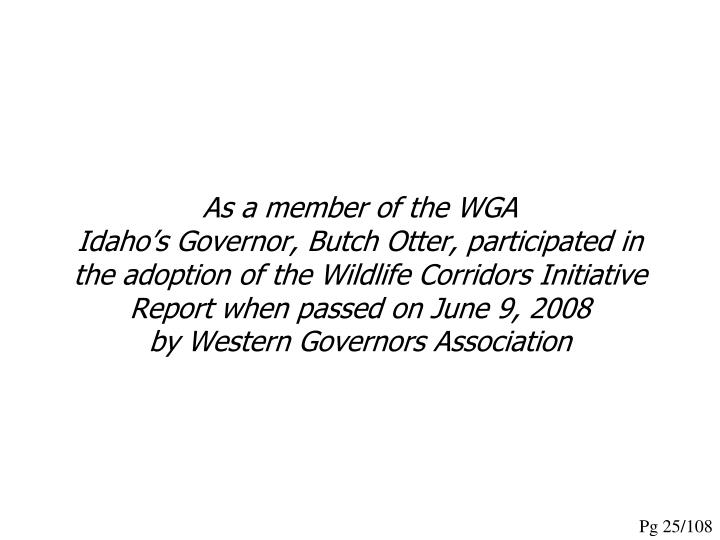As a member of the WGA
