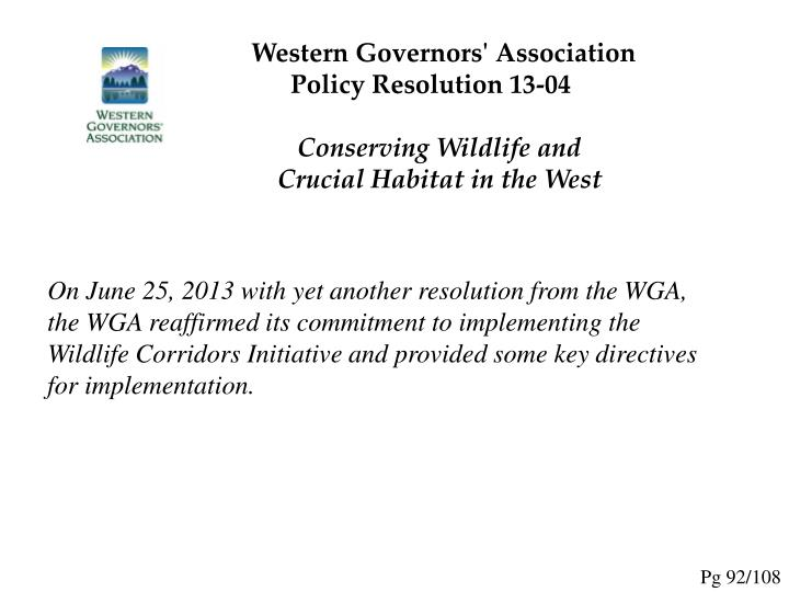 Western Governors' Association