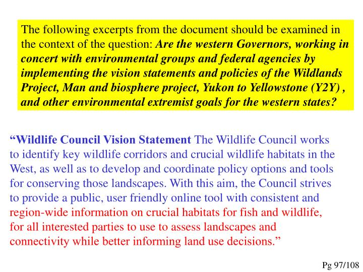 The following excerpts from the document should be examined in the context of the question: