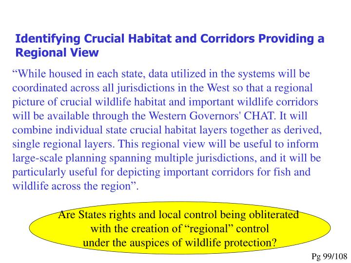 Identifying Crucial Habitat and Corridors Providing a Regional View