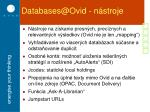 databases@ovid n stroje