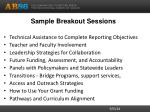 sample breakout sessions
