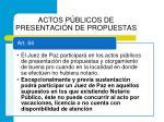 actos p blicos de presentaci n de propuestas