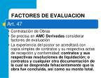 factores de evaluacion