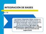 integraci n de bases