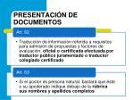 presentaci n de documentos