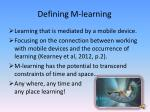 defining m learning