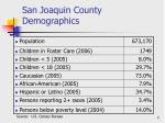 san joaquin county demographics