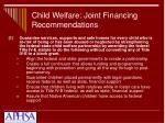 child welfare joint financing recommendations1