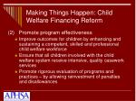 making things happen child welfare financing reform