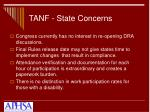tanf state concerns