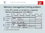 memory management timing problem