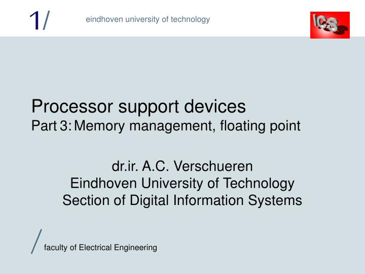 processor support devices part 3 memory management floating point n.
