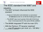 the ieee standard intel 8087 and cousins