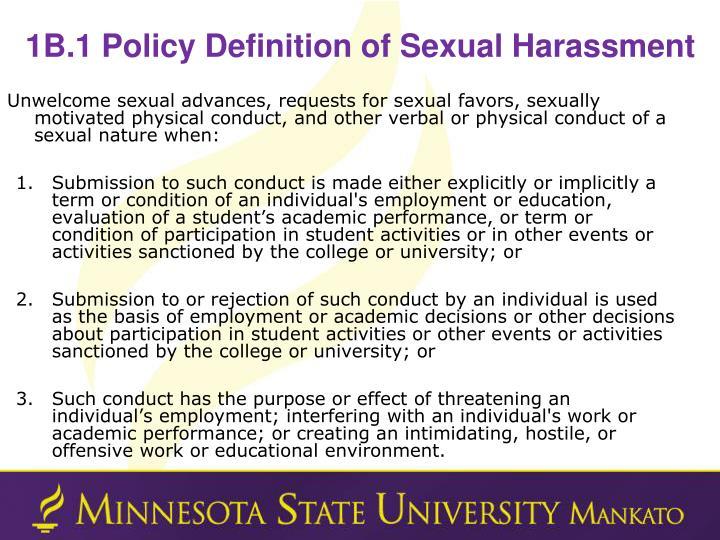 1B.1 Policy Definition