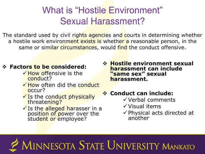 """What is """"Hostile Environment"""""""
