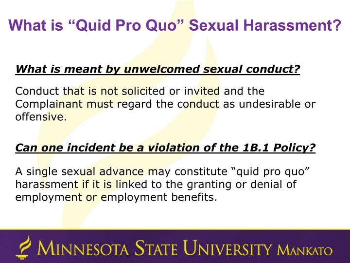 """What is """"Quid Pro Quo"""" Sexual Harassment?"""