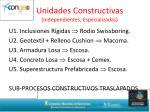 unidades constructivas independientes especializadas