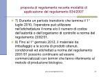 proposta di regolamento recante modalit di applicazione del regolamento 834 2007