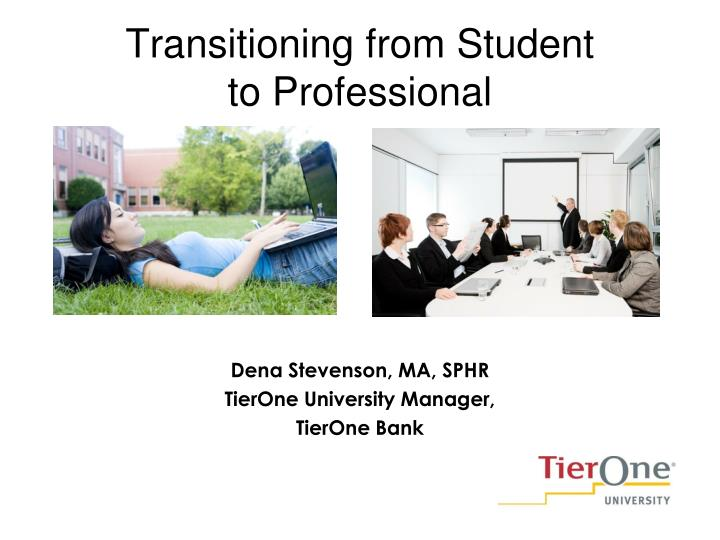 transitioning from student to professional n.