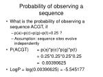 probability of observing a sequence
