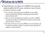 rutinas de la bios1