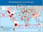 world deposits of shale gas trln cub m