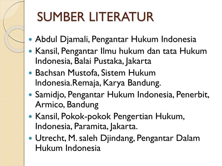 SUMBER LITERATUR