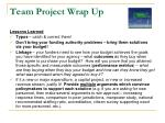 team project wrap up1