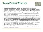 team project wrap up2