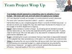 team project wrap up6