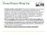 team project wrap up9