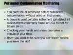 personnel contamination monitoring