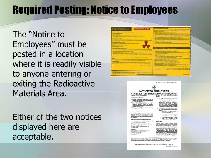 Required Posting: Notice to Employees