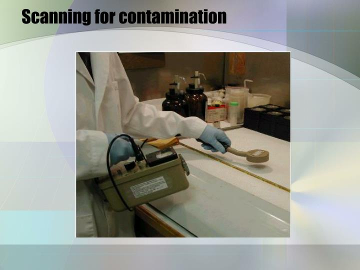Scanning for contamination