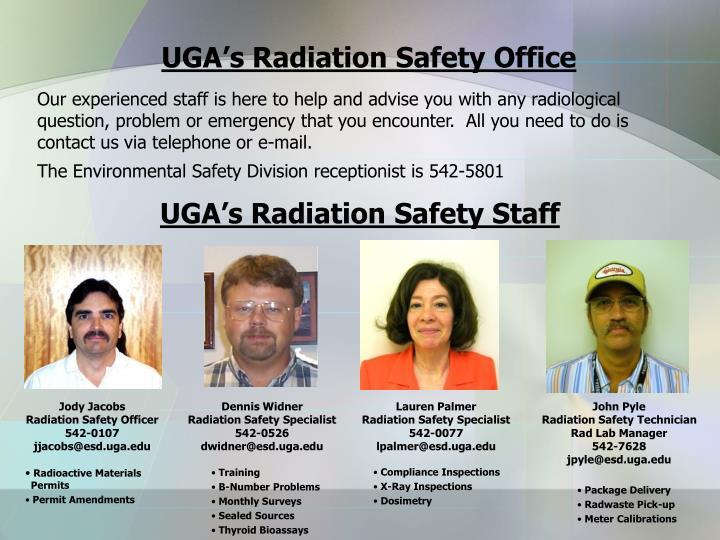 UGA's Radiation Safety Office