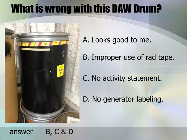 What is wrong with this DAW Drum?