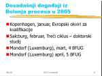 dosada nji doga aji iz bolonja procesa u 2005