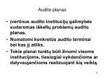 audito planas