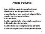 audito rodymai