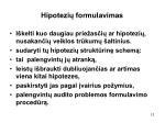 hipotezi formulavimas