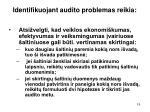 identifikuojant audito problemas reikia1