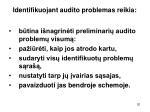 identifikuojant audito problemas reikia2