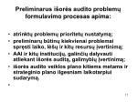preliminarus i or s audito problem formulavimo procesas apima1