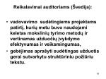 reikalavimai auditoriams vedija1