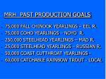 mrh past production goals