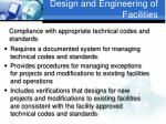 design and engineering of facilities