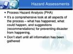 hazard assessments